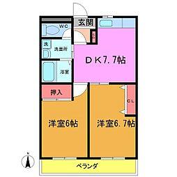 笹塚マンション[303号室]の間取り