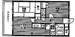 ピアチェーレ宮前平[4階]の間取り