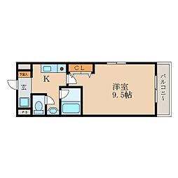 郁文館III[7階]の間取り