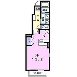 ソレイユ・山道[1階]の間取り