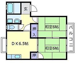 ハイツエスポワールA[1階]の間取り