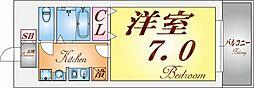 兵庫県神戸市須磨区権現町2丁目の賃貸マンションの間取り
