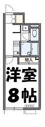 東武野田線 大和田駅 徒歩18分の賃貸アパート 1階1Kの間取り