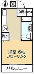 神奈川県川崎市多摩区宿河原7丁目の賃貸アパートの間取り