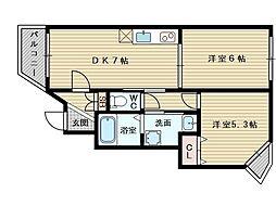 KTIレジデンス淡路[1階]の間取り