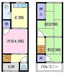 [テラスハウス] 大阪府松原市柴垣1丁目 の賃貸【/】の間取り