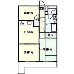 コスモ戸塚ツインコートB[5階]の間取り