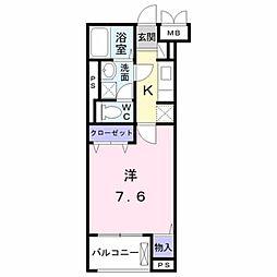 JR中央線 八王子駅 バス19分 宇津木下車 徒歩8分の賃貸マンション 4階1Kの間取り