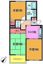 千葉県船橋市七林町の賃貸アパートの間取り