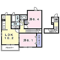 シナモン[2階]の間取り