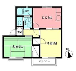 ファミール湘南2[2階]の間取り