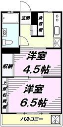シルキコーポ[2階]の間取り