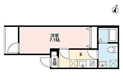 BLOOMIN' miyahara(ブルーミン ミヤハラ)[3階]の間取り
