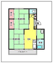 第2長丘ビル[203号室]の間取り