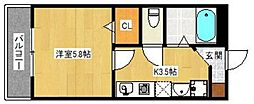 KATURAGI  Ville−A[102号室]の間取り