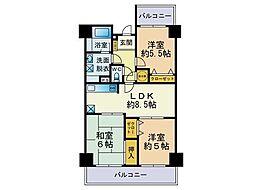 ロワールマンション和白5[613号室]の間取り