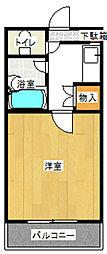 クレールマンション[3階]の間取り