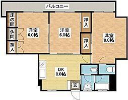 筑後屋柴田ビル[6階]の間取り