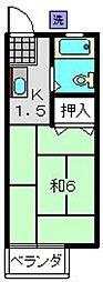 神奈川県横浜市南区中里2丁目の賃貸アパートの間取り