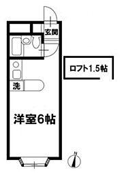 ベルピア津田沼II[206号室]の間取り