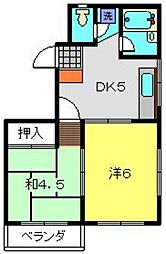 シャルマン三ツ境[2階]の間取り