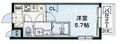 AQUAレジデンス立川第2 1階1Kの間取り
