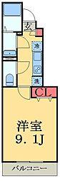 JR総武線 幕張駅 徒歩6分の賃貸アパート 1階1Kの間取り