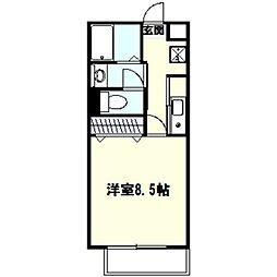 神奈川県鎌倉市台3丁目の賃貸マンションの間取り