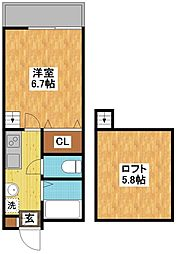 modern palazzo 文教東[2階]の間取り