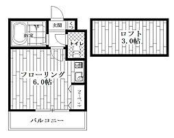 東京都杉並区高円寺南3の賃貸アパートの間取り