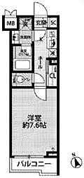 JR中央線 西荻窪駅 徒歩11分の賃貸マンション 3階1Kの間取り
