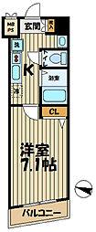 神奈川県鎌倉市小袋谷1丁目の賃貸マンションの間取り