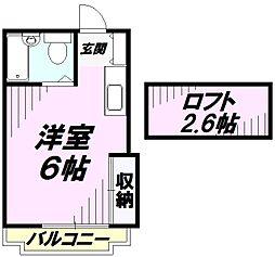 グレースKEI[2階]の間取り