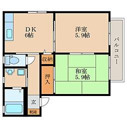 レジデンスTK C[2階]の間取り