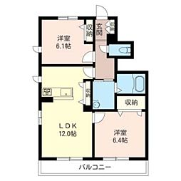l'escale 7 A[1階]の間取り
