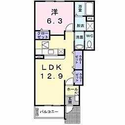 ム−ンタウンA[1階]の間取り