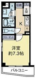 (仮称)HRMマンション 2階1Kの間取り