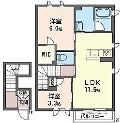 南区六ッ川シャーメゾン(仮)[202号室]の間取り
