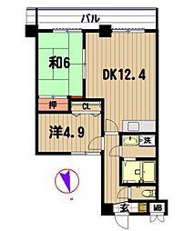エスポワール蒲田第3レッツビル[3階]の間取り