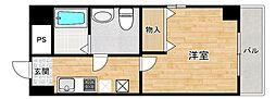 近鉄南大阪線 河堀口駅 徒歩4分の賃貸マンション 11階1Kの間取り