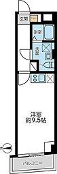 都営浅草線 馬込駅 徒歩5分の賃貸マンション 2階ワンルームの間取り