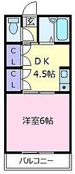 マツダ21天美[1階]の間取り