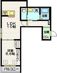 (仮称)下目黒3丁目メゾン 2階1LDKの間取り