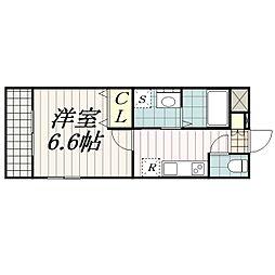 ガレット幕張本郷[2階]の間取り