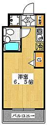 ベルトピア本中山[206号室]の間取り