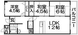 プロムナードイズモ[3階]の間取り