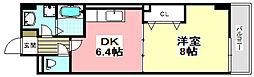 大阪モノレール 沢良宜駅 徒歩12分の賃貸マンション 3階1DKの間取り