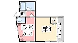 東口ハイツ[2階]の間取り