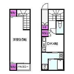 Osaka Metro長堀鶴見緑地線 蒲生四丁目駅 徒歩8分の賃貸アパート 1階1DKの間取り