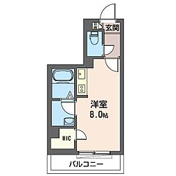 仮)大田区南馬込1丁目シャーメゾン 1階ワンルームの間取り